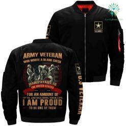 Army veteran jacket - army veteran who wrote a blank check made payable %tag familyloves.com