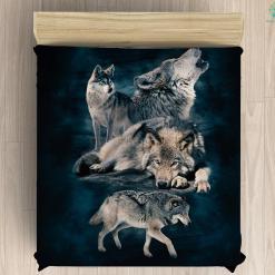 Beautiful wolf Microfiber Duvet Cover %tag familyloves.com