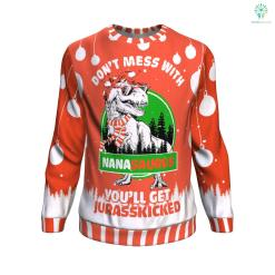 don't mess with nana saurus UGLY CHRISTMAS SWEATER %tag familyloves.com
