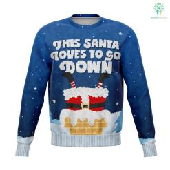 Santa Goes Down - Athletic Sweatshirt %tag familyloves.com