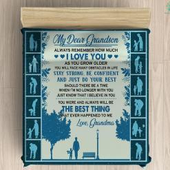 My Dear Grandson Microfiber Duvet Cover Gift %tag familyloves.com