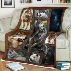 Wolf Pictures In The Wild Sherpa Fleece Blanket %tag familyloves.com