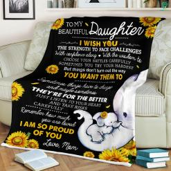Daughter And Mother Quotes Fleece Blanket %tag familyloves.com