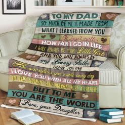 To My Dad Sherpa Fleece Blanket %tag familyloves.com