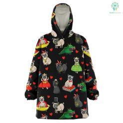 Pugs - Snug Hoodie %tag familyloves.com