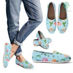 Blue Flower Casual Shoe - Women's Casual Shoes, US11 (EU42) %tag familyloves.com