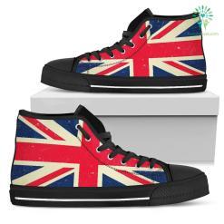 Men's British Flag Canvas Shoes %tag familyloves.com