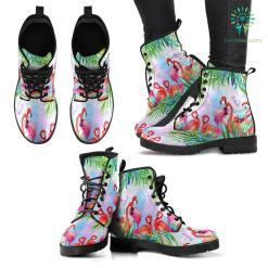 Handcrafted Tropical Flamingo Boots %tag familyloves.com