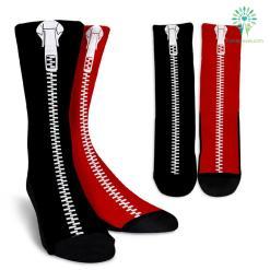 Black-Red-L-001 Crew Socks %tag familyloves.com