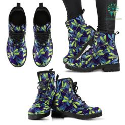 Handcrafted Dragonfly Pattern 2 Boots %tag familyloves.com