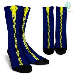 Yellow-Dark-Blue-001 Crew Socks %tag familyloves.com