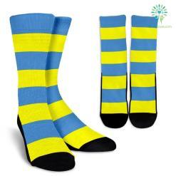 Strip-Blue-Yellow-B-001 Crew Socks %tag familyloves.com