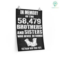 In Memory of The 58479 Vietnam Veteran Military Poster %tag familyloves.com