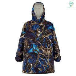 Turquoise Hunting Camo - Snug Hoodie %tag familyloves.com