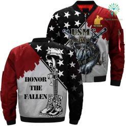 USMC dog devil 3D Full print jacket %tag familyloves.com