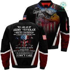 I am an Army veteran i served i sacrificed 3D full print jacket %tag familyloves.com