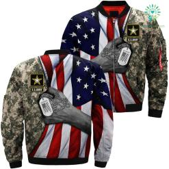 US Army veteran flag american 3D full print jacket %tag familyloves.com