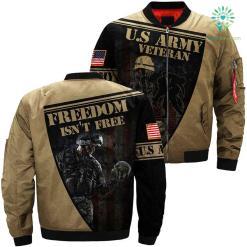 US Army veteran freedom isn't free 3D full print jacket %tag familyloves.com