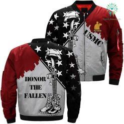 USMC Veteran print jacket