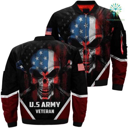US Army Veteran Skull 3D full print jacket %tag familyloves.com