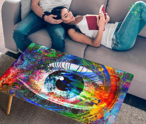 HandCrafted Abstract Digital eye Coffee Table %tag familyloves.com