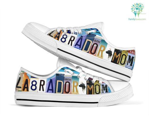 Labrador Mom Low Top Shoes %tag familyloves.com