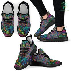 Black Mesh Knit Sneakers %tag familyloves.com