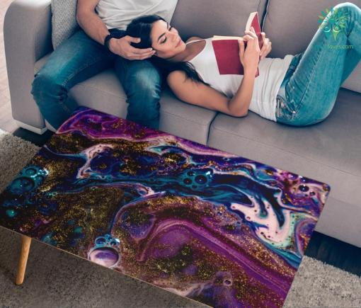 HandCrafted Abstract Liquid Gradient Coffee Table %tag familyloves.com