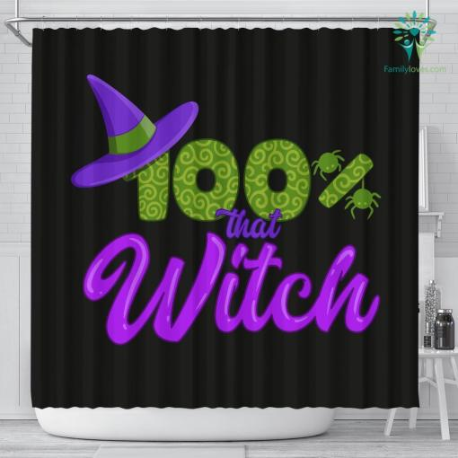 100% That Witch Black Shower Curtain %tag familyloves.com