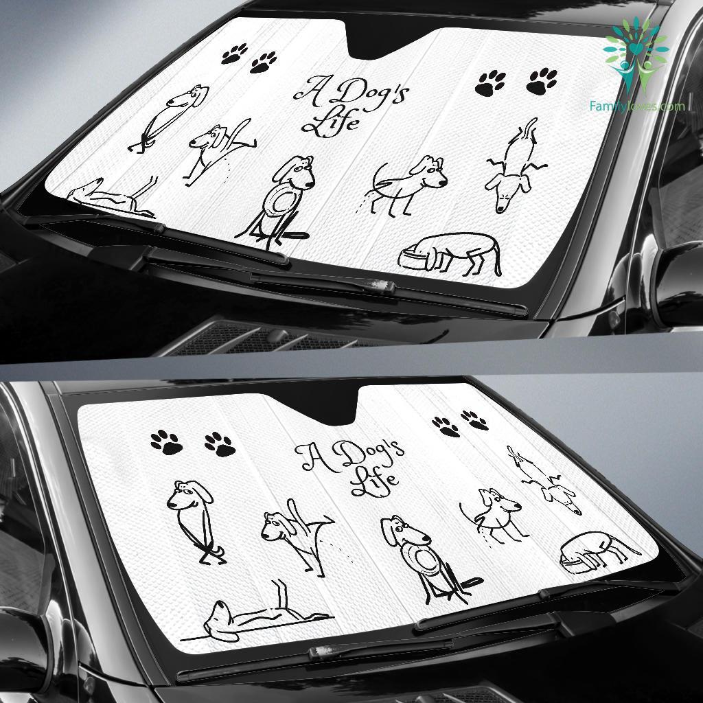 A DOG'S LIFE AUTO SUN SHADE Familyloves.com