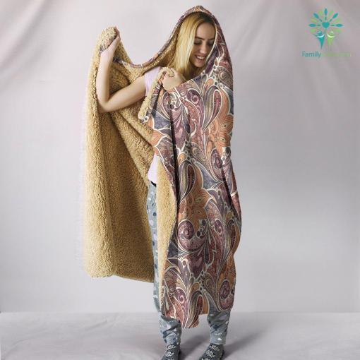 Boho Shell Fractal Hooded Blanket %tag familyloves.com