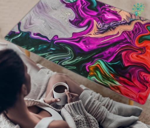 HandCrafted Abstract Psychedelic Art Coffee Table %tag familyloves.com