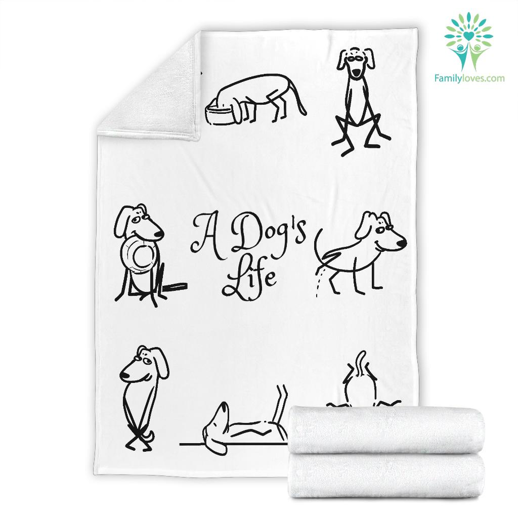 A DOG'S LIFE PREMIUM BLANKET Familyloves.com
