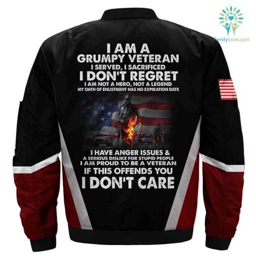 I am a grumpy veteran 3D full print jacket %tag familyloves.com