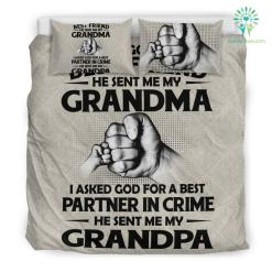 I asked god for a best friend he sent me my grandma Bedding Set Gift %tag familyloves.com