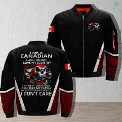 I Am A Canadian I Love Freedom I Love My Country I Eat Meat I Drink Beer I Protect My Family Military Full Print Jacket %tag familyloves.com