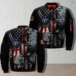 U S A F - PERSONALIZED 3D full print jacket %tag familyloves.com