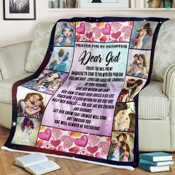 Prayer For My Daughter Sherpa Fleece Blanket %tag familyloves.com