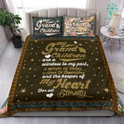 My grand children are a window to my past a mirror of today Bedding Set Gift %tag familyloves.com