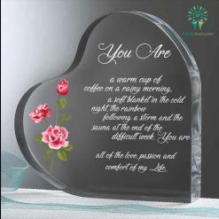 You are warm a cup of coffee Heart Keepsake %tag familyloves.com