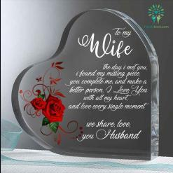 To my wife the day i meet you Heart Keepsake %tag familyloves.com