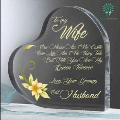 Forever love, your grumpy old husband Heart Keepsake %tag familyloves.com