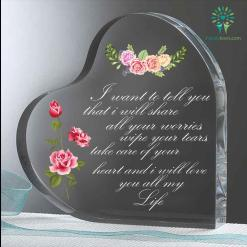 Tell you that i will share all your worries Heart Keepsake %tag familyloves.com