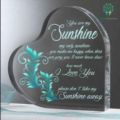 Sunshine my only sunshine you make me happy Heart Keepsake %tag familyloves.com