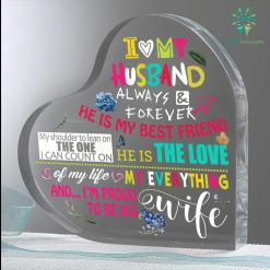 I Love My Husband Always And Forever Heart Keepsake %tag familyloves.com