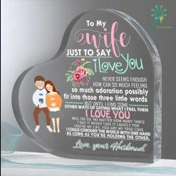 For My Wife Gifts Heart Keepsake %tag familyloves.com
