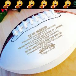 To My Husband Meeting You Was Fate football full size 14 inche 14 football husband size %tag familyloves.com