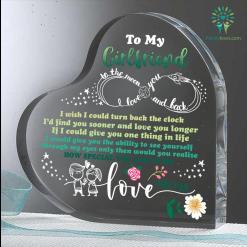 Gift For My Girlfriend Heart Keepsake %tag familyloves.com