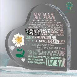 My Man I Have Fallen For You Heart Keepsake %tag familyloves.com