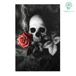Gothic skull Area Rugs %tag familyloves.com